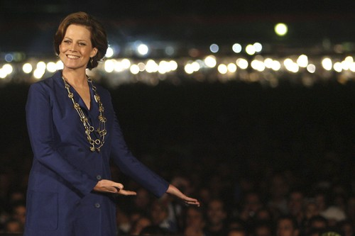 Sigourney Weaver introduces 'Alien' at the Jemaa el Fna square