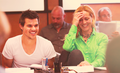 Taylor @ Grown Ups 2 table read - taylor-lautner fan art