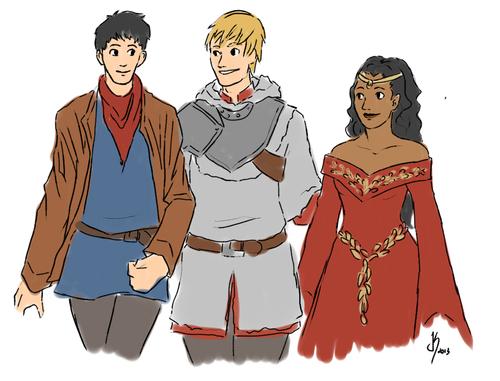 The Magical OT3 - Arthur, Gwen & Merlin