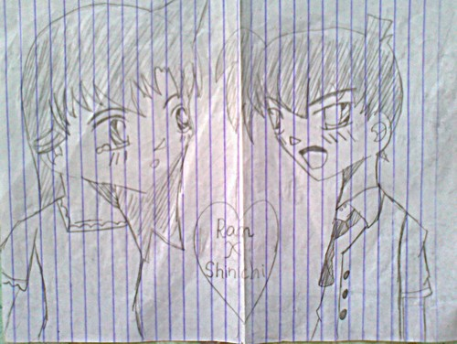 The 日 He Confessed To Me (Ran x Shinichi) (fan art by: Yagami003)