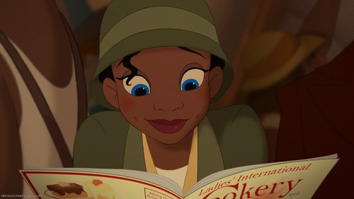 Tiana with blue eyes