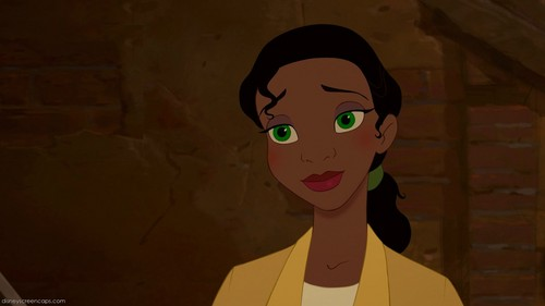Tiana with green eyes