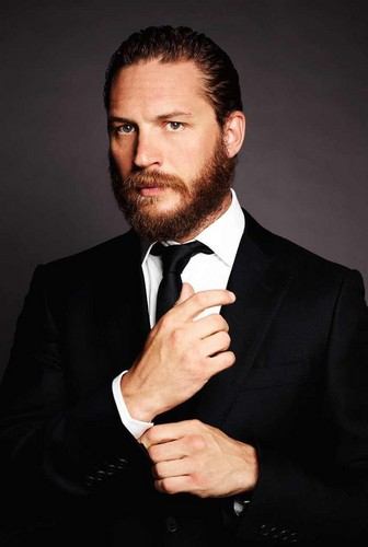 Tom Hardy wallpaper with a business suit, a suit, and a single breasted suit titled Tom Hardy - Christian Bale Photo Shoot