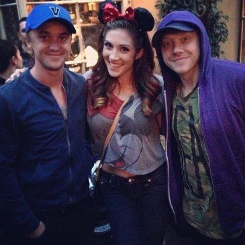 Tom and Rupert in Disneyland