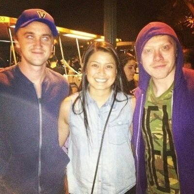 Tom and Rupert in Disneyland