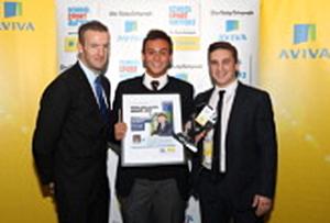 Tom attends the AVIVA & Daily Telegraph School Sport Matters Awards [14/11/12]
