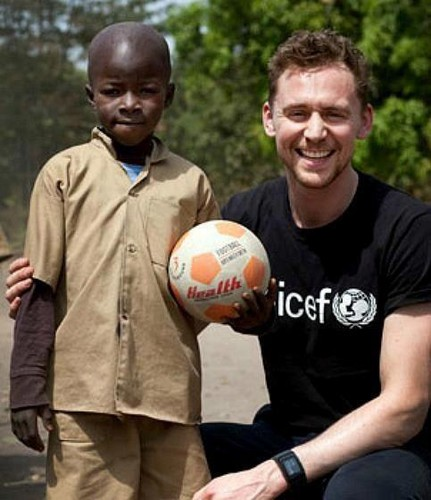 Tom helping out Unicef