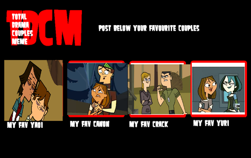 Total Drama Couples meme!
