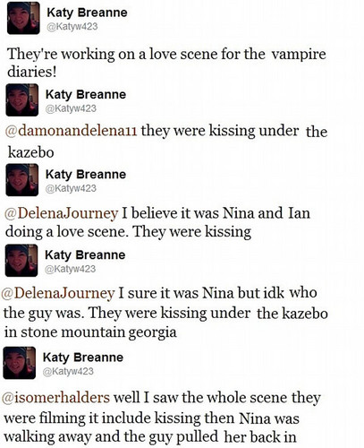 Tweet about Damon and Elena