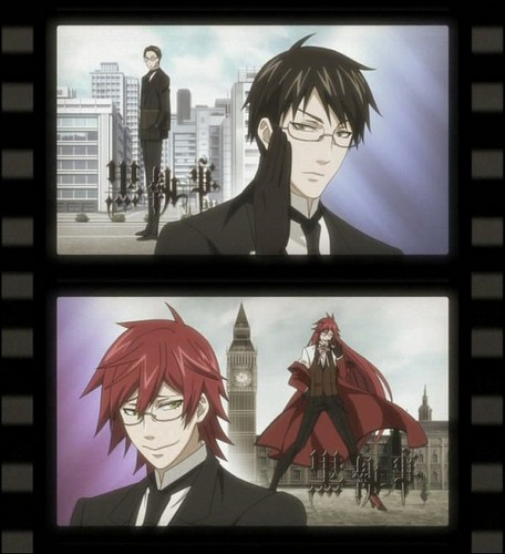 black butler wallpaper probably with a sign entitled William & Grell