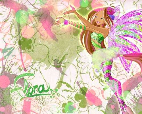 Winx club 5 season Flora Sirenix\Винкс 5 сезон Флора Сиреникс - the-winx-club Wallpaper