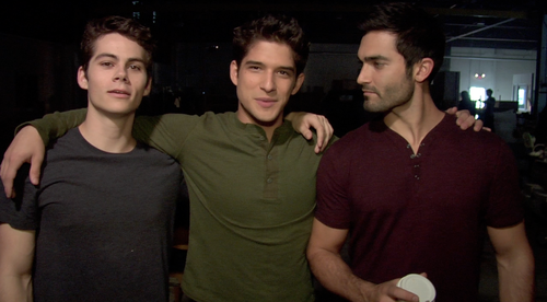 Tyler Hoechlin karatasi la kupamba ukuta entitled With Dylan and Tyler