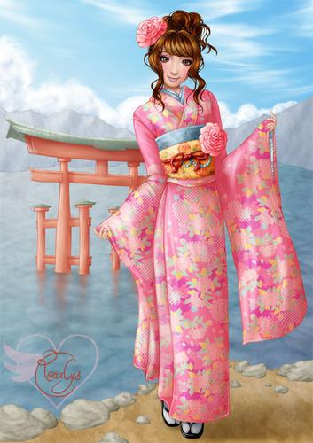 msyugioh123 wallpaper containing a kimono called anime girl kimono