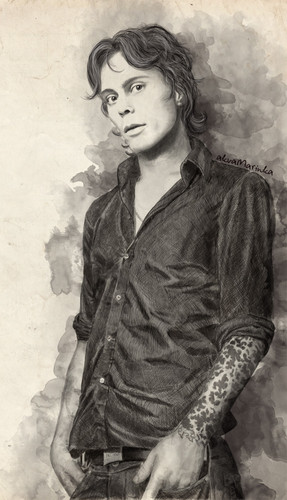 Ville Valo wallpaper titled beautiful Ville drawing