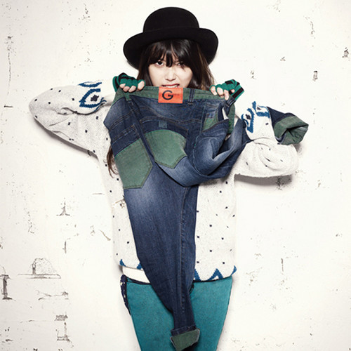 DARA 2NE1 wallpaper possibly with a fedora, an outerwear, and a boater titled cutie IU lee ji eun g for guess