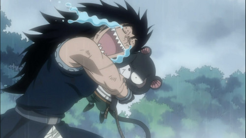 gajeel crying!!!