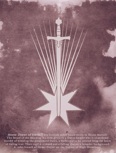 Game of Thrones wallpaper possibly containing a sign and a fleur de lis called House Dayne