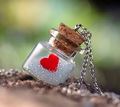 heart in bottle