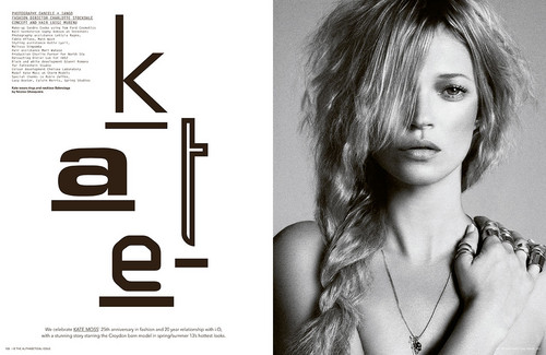 Kate Moss wallpaper with a portrait titled i-D Pre-Spring 2013 by Daniele & Iango
