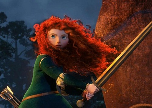 merida with black highlights