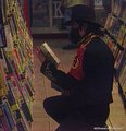 michael at a book shop - michael-jackson photo