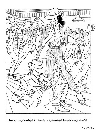 moonwalker coloring page