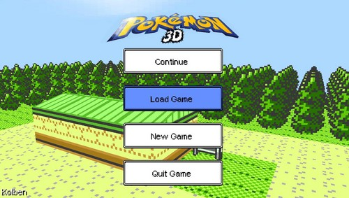 pokemon 3D official titlescreen