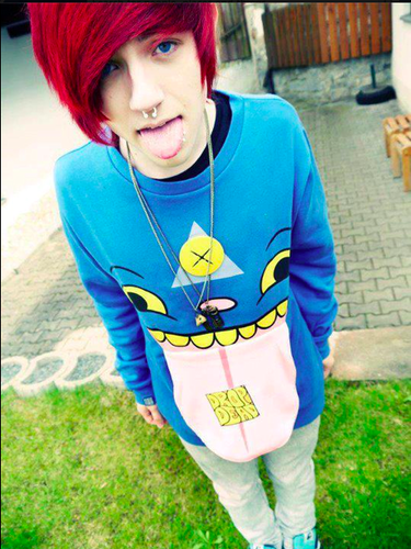 boy with dyed red hair - photo #39