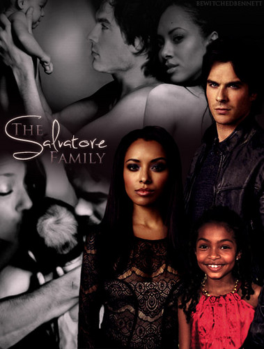 Damon & Bonnie wallpaper possibly containing a portrait called salvatore family
