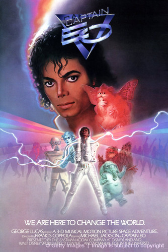 "Michael Jackson wallpaper possibly containing a concert and anime titled ""Captain Eo"" Movie Poster"
