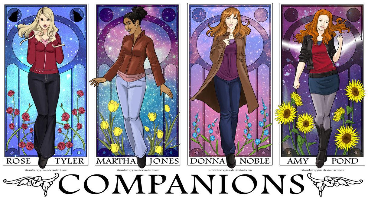 Doctor Who Companions Art