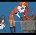 IchiHime kiss kiss by angelcake12