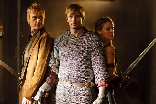 Bradley James wallpaper possibly containing a surcoat entitled ''Merlin''_4 season