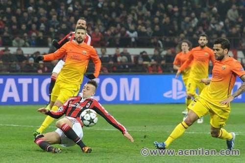AC Milan VS FC Barcelona 2-0, UEFA Champions League 2012/13