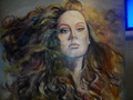 "ADELE 50"" BY 46"" OIL ON CANVAS - adele fan art"
