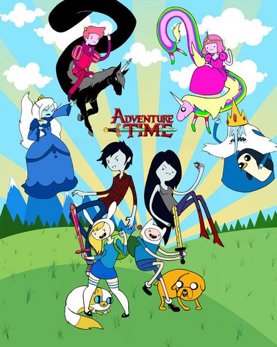 Adventure Time With Finn and Jake wallpaper with anime entitled Adv time