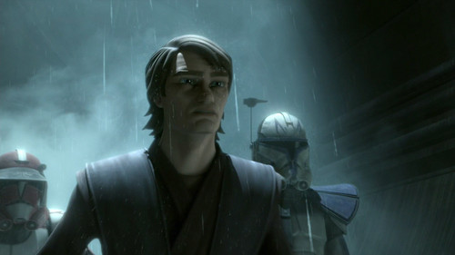 Anakin in the rain