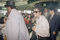 Arriving In Japan While On Tour - michael-jackson photo