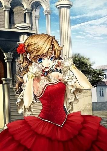 Blonde Girl in dress