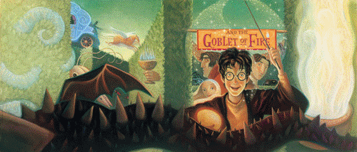 Harry Potter karatasi la kupamba ukuta with anime titled Book covers