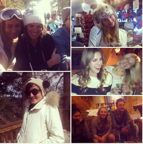 Candice with 프렌즈 during her weekend in the Mountains {16th -17th February 2013}