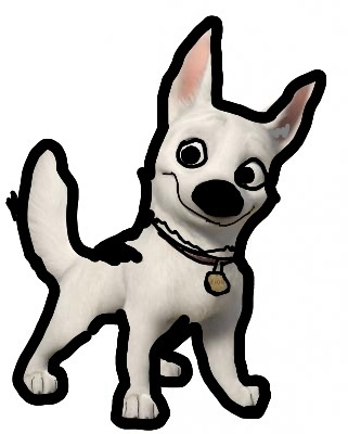 Cartoon looking Animation bolty The superdog