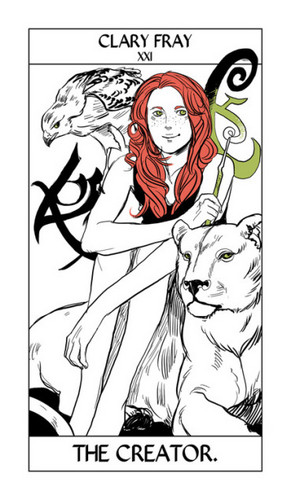 Cassandra Jean's Tarot Cards: Clary Fray {The Creator}.