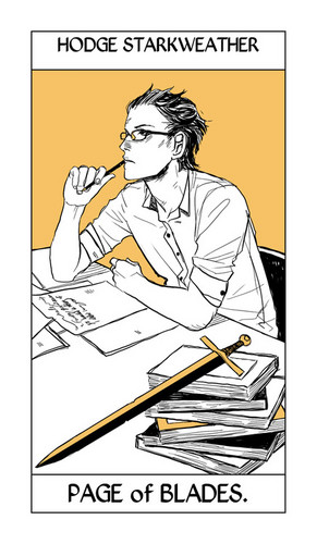 Cassandra Jean's Tarot Cards: Hodge Starkweather {Page of Blades}.