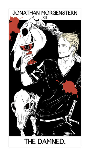 Cassandra Jean's Tarot Cards: Jonathan Morgenstern {The Damned}.