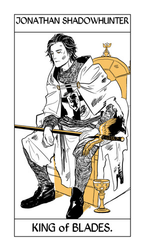 Cassandra Jean's Tarot Cards: Jonathan Shadowhunter {King of Blades}.