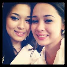 Cha Cha Maembong with her sister