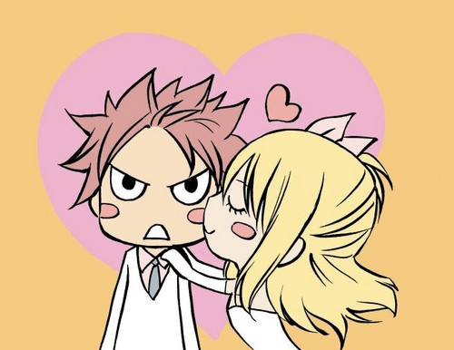 Chibi Natsu and Lucy in wedding dress drew سے طرف کی Mashima-sensei! ♥