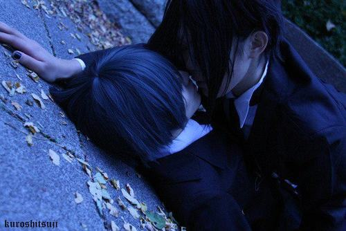 ciel and sebastian kiss - photo #21