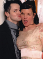 Clint Catalyst Smooching Pauley Perrette - pauley-perrette photo